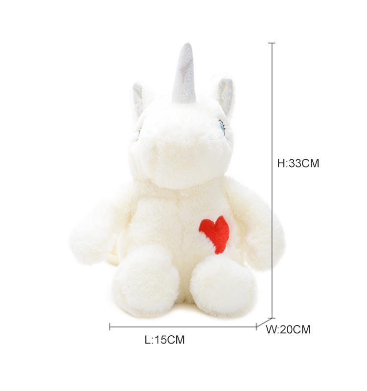 Latest Toddler Girl Animal Plush Stuffed Unicorn toy travelling bag backpack bagpack for kids girls