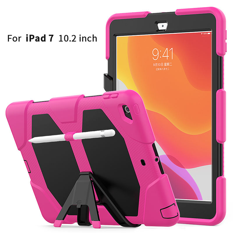 water resistant 10.2 inch heavy duty shockproof silicone tablet case cover for ipad 10.2 2019