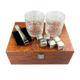 Wonderful stainless steel whiskey ice cube stone and whiskey stone gift set and stainless ice cube