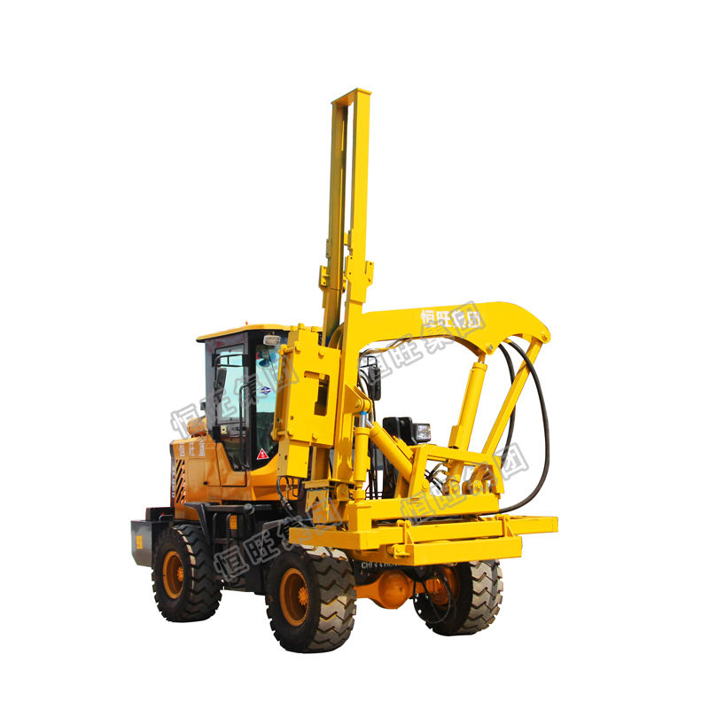 Guardrail Installation hydraulic pile driving machine with low price