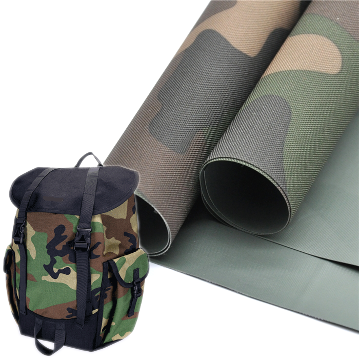 blue camouflage fabric waterproof pvc 600d material