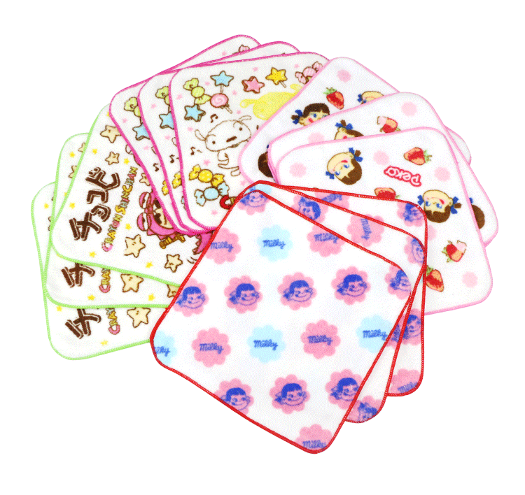 Factory direct sales 100% cotton reactive printed hand towels small face towel customized pattern