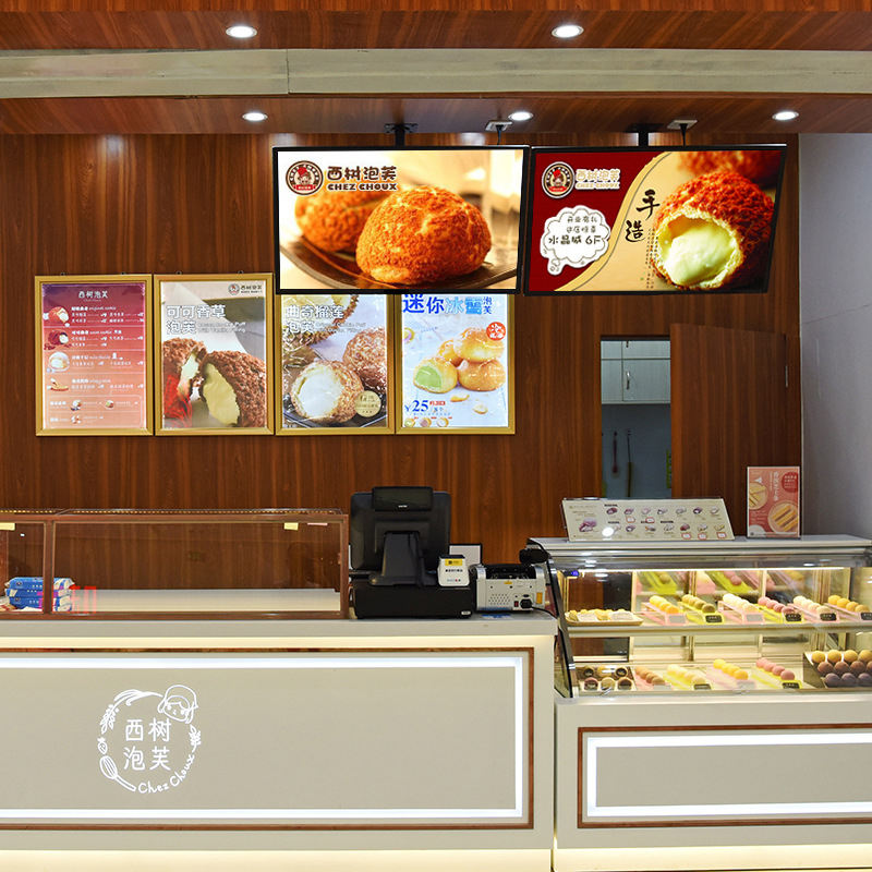 custom led restaurant coffee Magnetic Ultra-thin light box indoor advertising light box cafe cinema led menu board