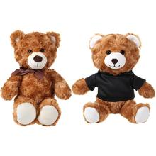 China Yiwu manufacturer custom stuffed teddy bear toy with t-shirt fashion cartoon cute fully material plush bear toy