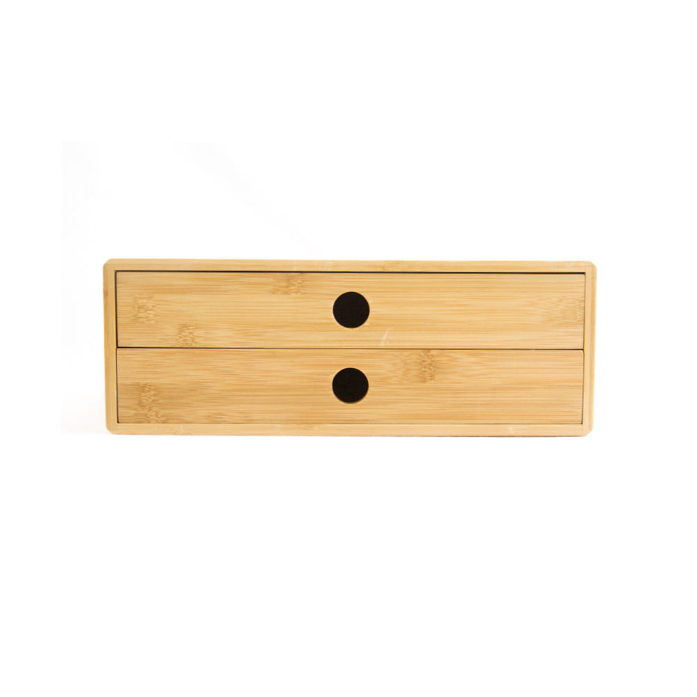 Bamboo Desk Stationery Organizer Office Desk Organizer with Drawer
