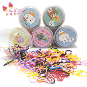Wholesale seamless elastic hair bands rubber hair ties for girls