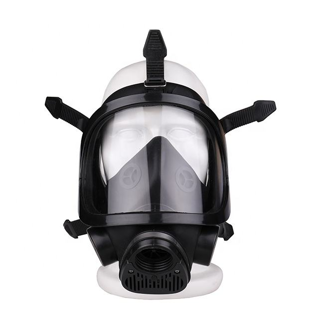 CE EN136 Approved military chemical double full face gas mask with two canisters