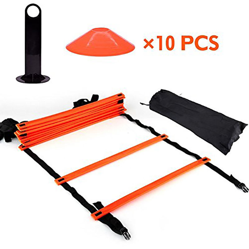 Custom Fitness Equipment Exercises Sports Speed Football Agility Ladde Speed Agility Training Ladder And Cones Set