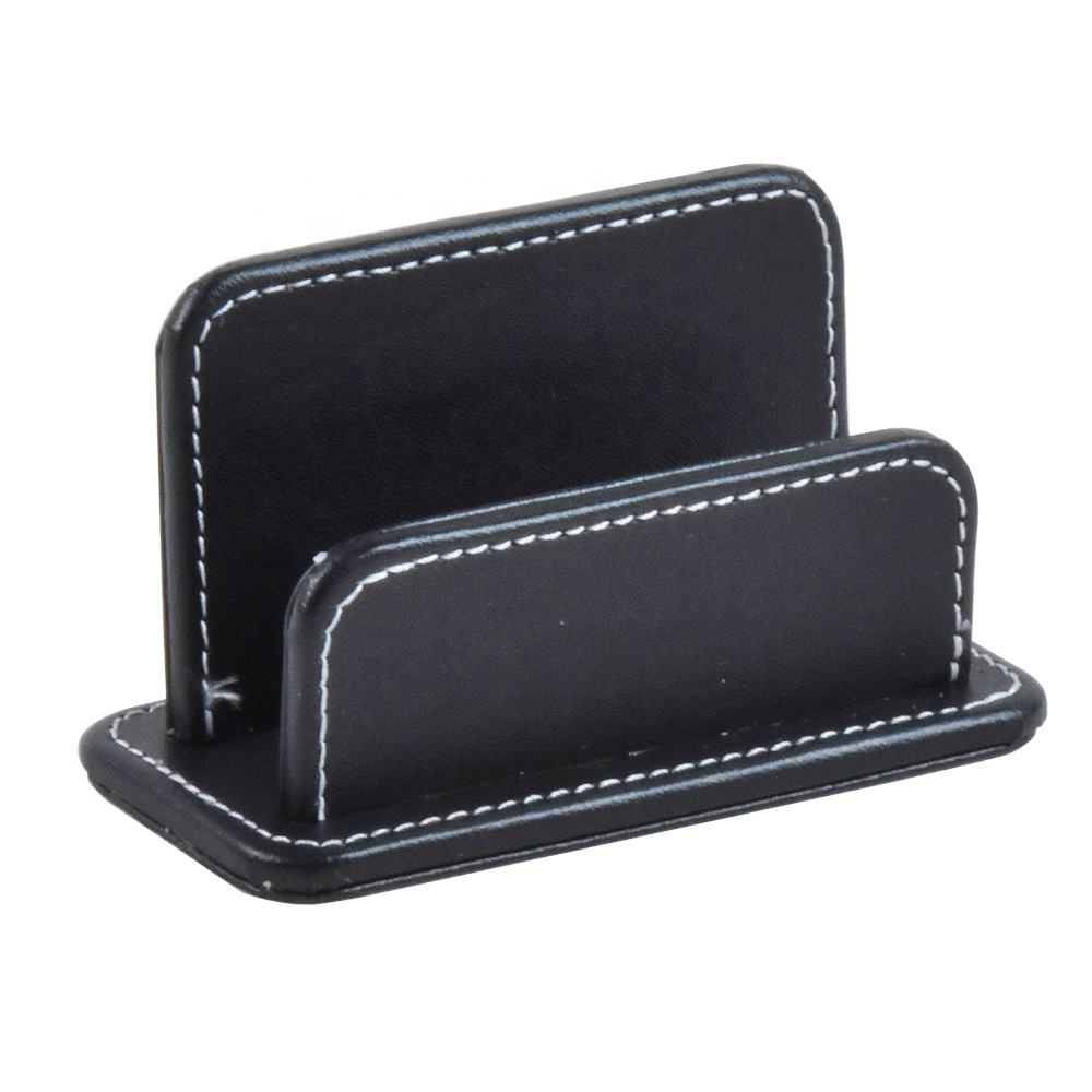 wholesale high quality office black leather desk organizer holder