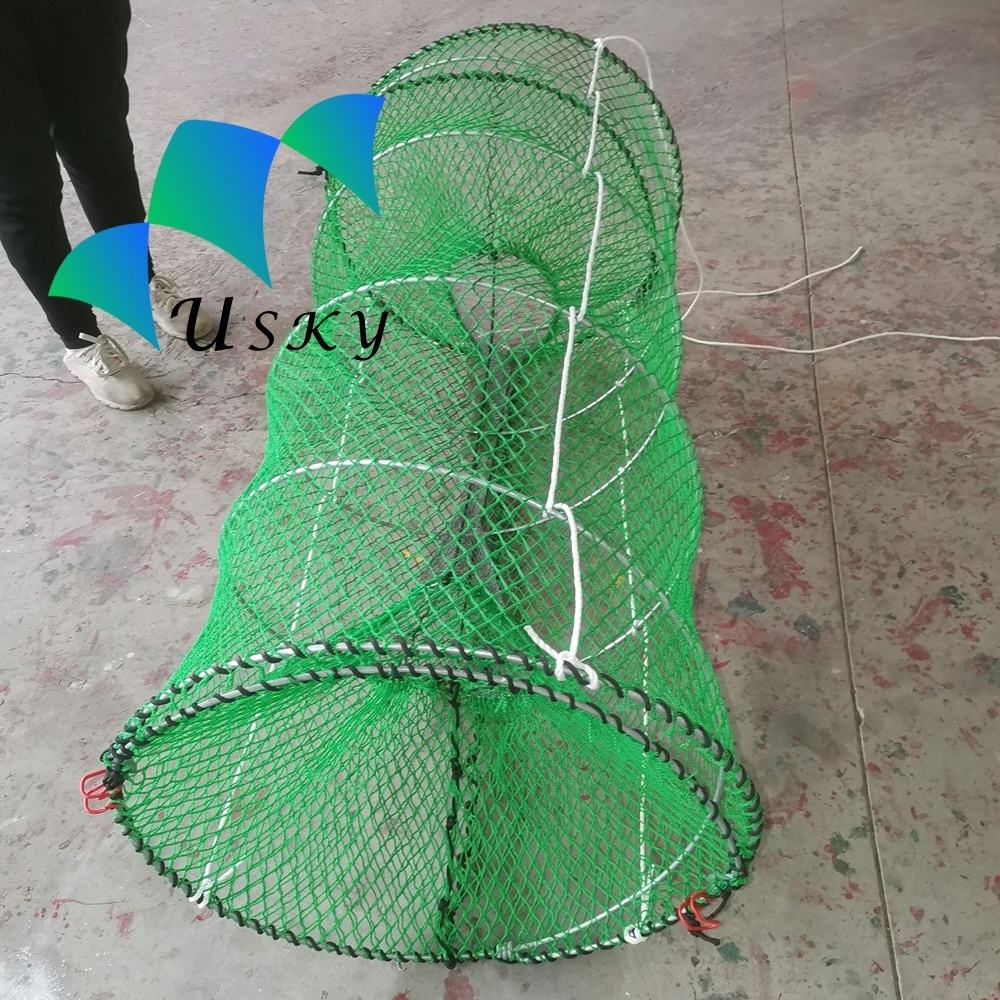 Fish spring cage folding trap lobster trap 70*120cm customized wholesale price