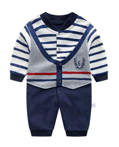 hot seller 2019 wholesale fashion baby romper baby clothes newborn Gentlemen's baby clothes long sleeve kids clothes