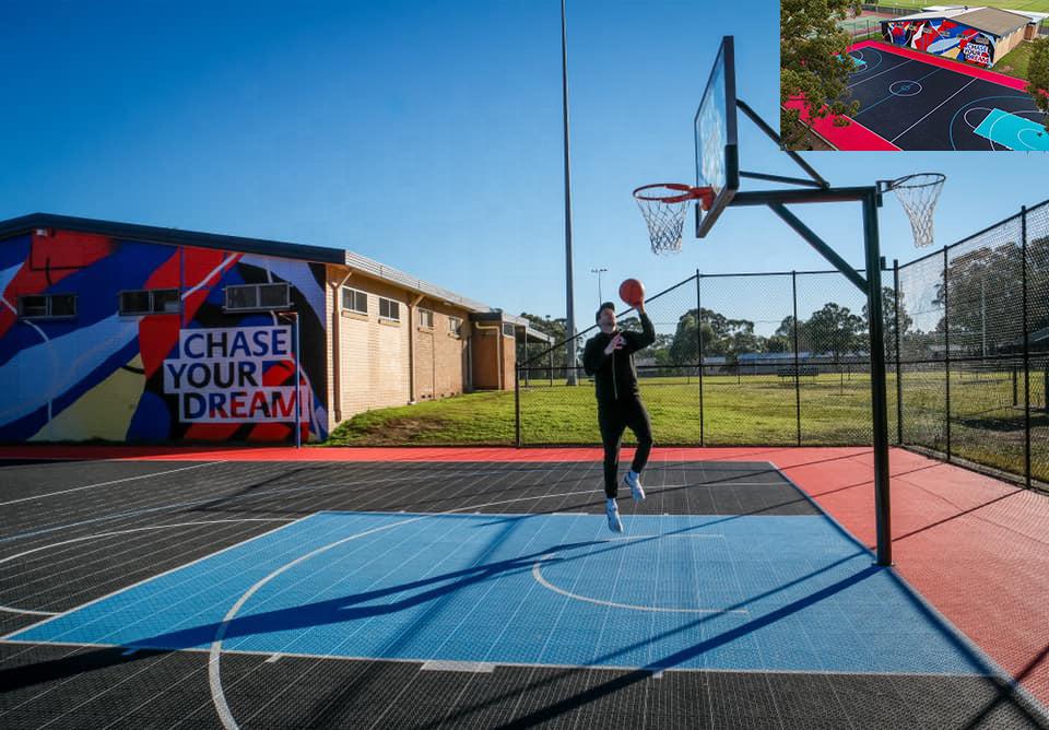 Outdoor Basketball Court Flooring PP Interlocking Outdoor Floor Plastic Sport Tennis Basketball Badminton Court Flooring Mat