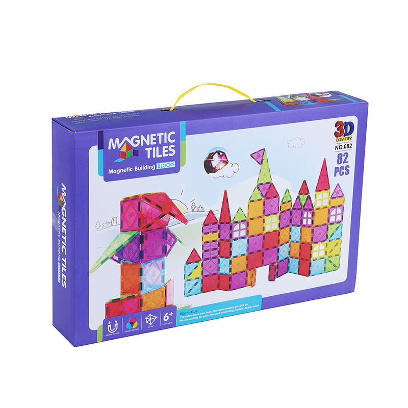 82 pcs magnetic tile paly set block,Amazon building block supplier ,new STEM toy