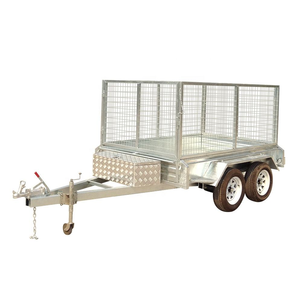Axle Trailer Sell Well 8x5 Standard Hot Dip Galvanized Dual/tandem Axle Box Trailer In Australia For Family Transport