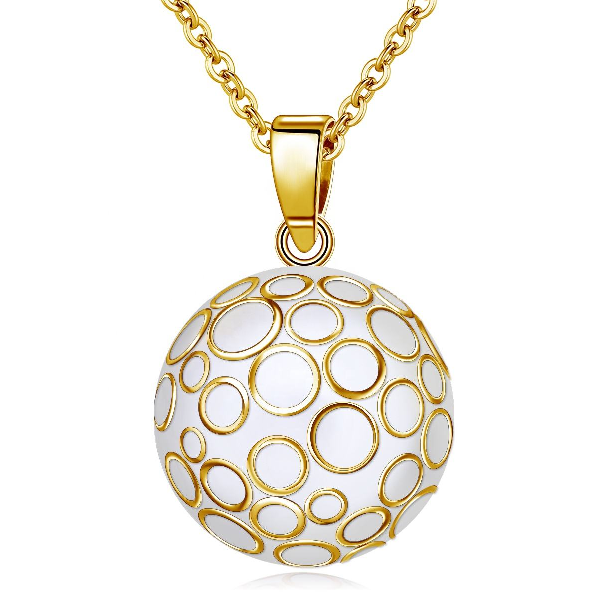 Fashion Maternity Bola Ball Angel Chimes Baby Jewelry Antique Bali Ball Mexican Bola Necklace for Baby