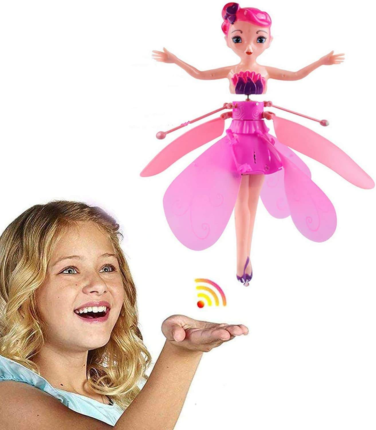 Fery flying doll flying toys for kids by hand control flying doll toy fairy