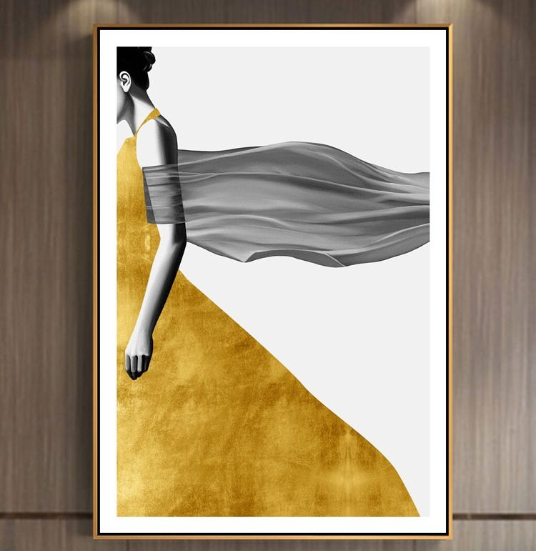 Retro minimalist canvas wall art prints interior bed room decor poster removable canvas painting
