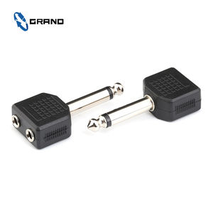 6.35 Mm Stereo Spina a 2*3.5 Mm Stereo Jack Audio Dual Adattatore E Connettore