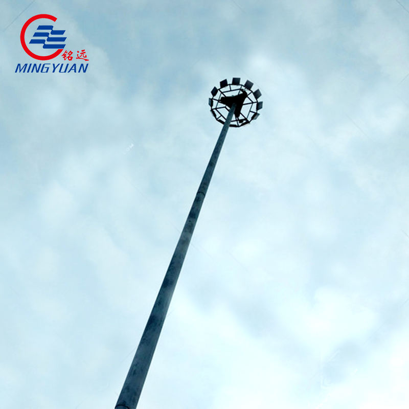 30M Customized High Mast Lighting Pole with Hot Dip Galvanized and Powder Coated