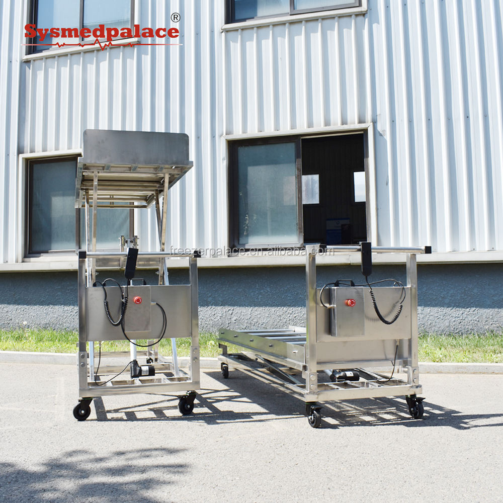 multi-functional reliable brand Lab Hospital hospital morgue transport stretcher electric autopsy lifter