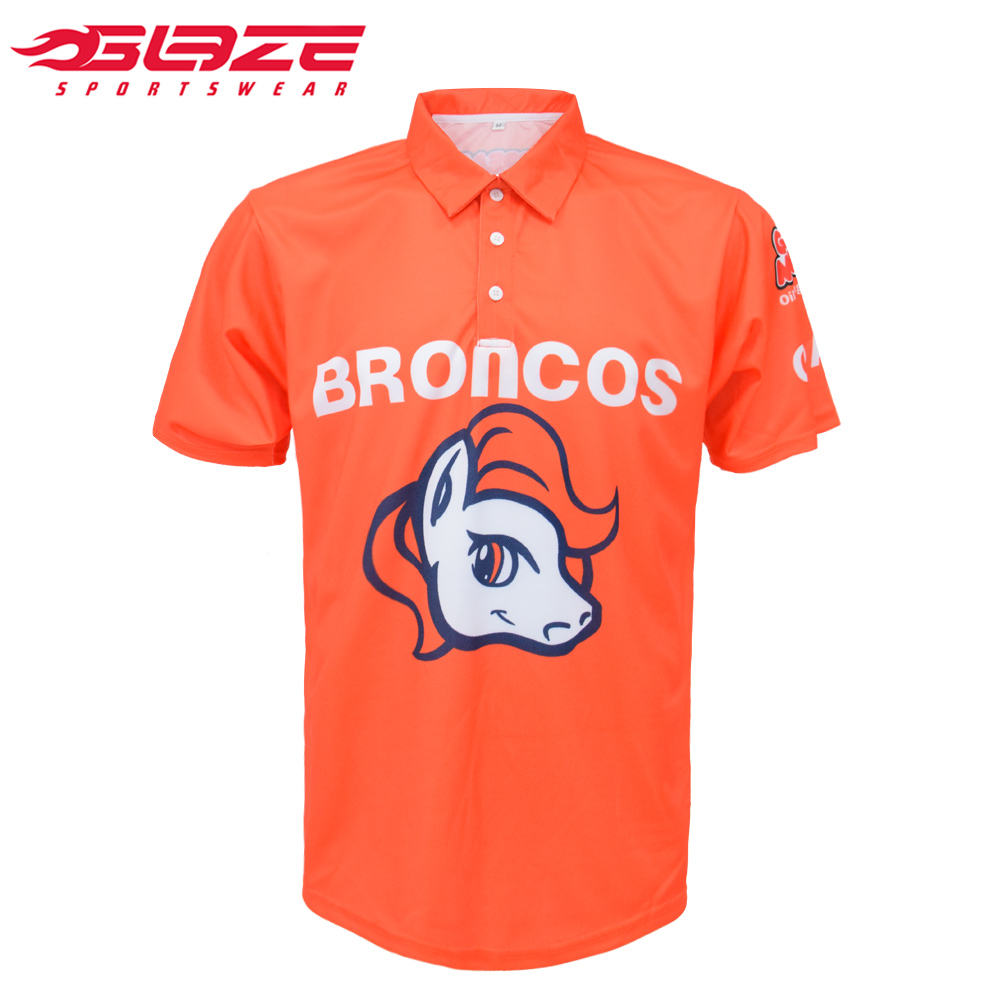 Latest design custom polyester sports golf orange polo shirts women