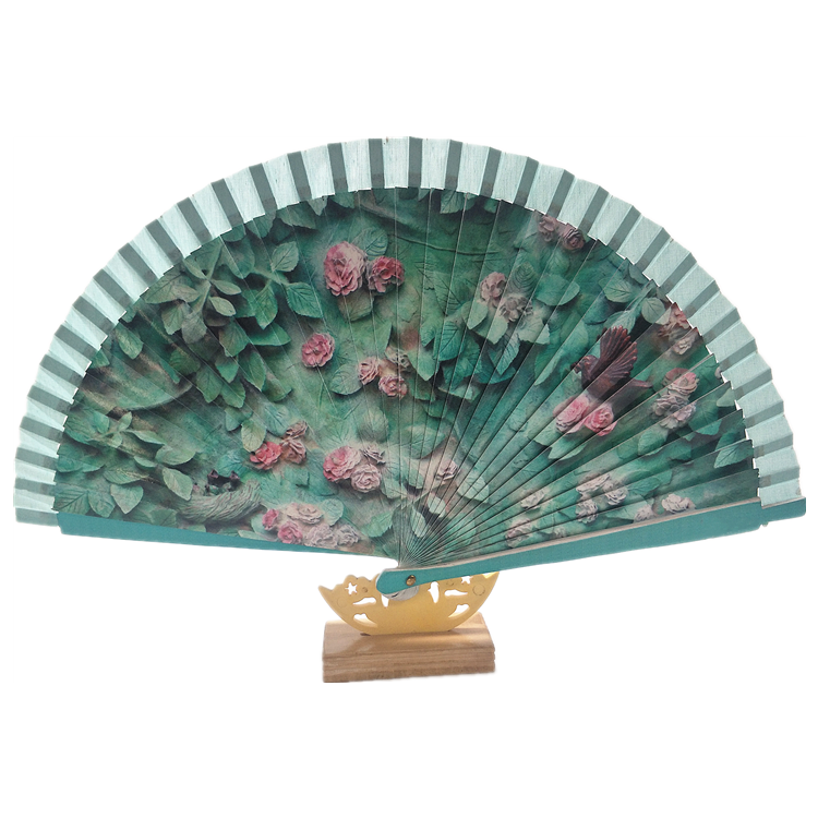 23cm Length 2019 New Products Dance Performance Spanish Hand Fan in Wood For Hand-Painted