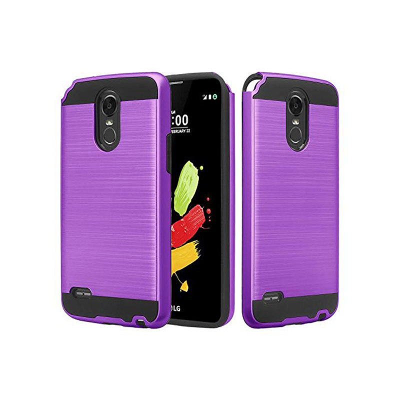 China supplier factory brushed case for LG Stylo 3/LS 777/Stylo 3 PLUS combo case