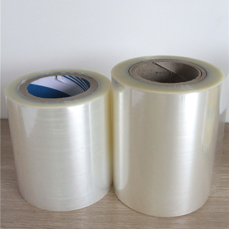 Manufacturers hologram thermal shrink lamination metallized pe opp print roll heat seal white transparent package film