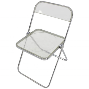 Wholesale Modern Plexiglass Acrylic Plastic Folding Desk Chair 7 Colors
