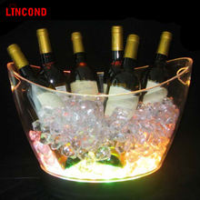 Large LED Wine Champagne Beer Bucket LED Plastic Ice Bucket for beer party