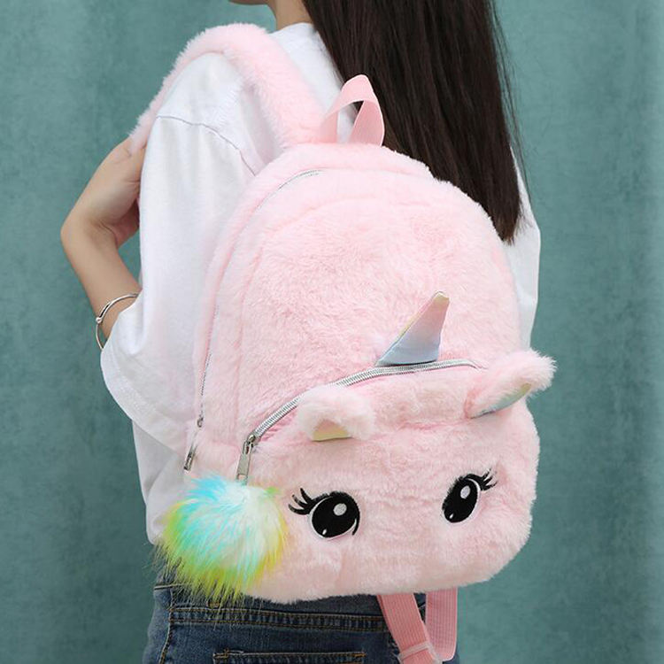 kindergarten plush toddler backpack kids bagpack unicorn cartoon satchel bag mochila para bebe girls new stylish mini backpack