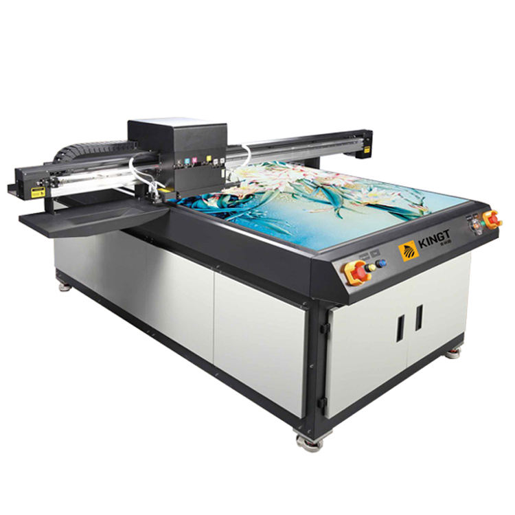 Ricoh GH2220 heads flatbed uv printer Kingt 1016 UV Digital phone case printing machine uv led flatbed ink jet printer