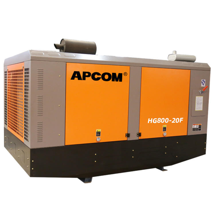 APCOM aircompressors diesel screw air compressor 20bar high pressure portable screw aircompressor for mine drilling rig