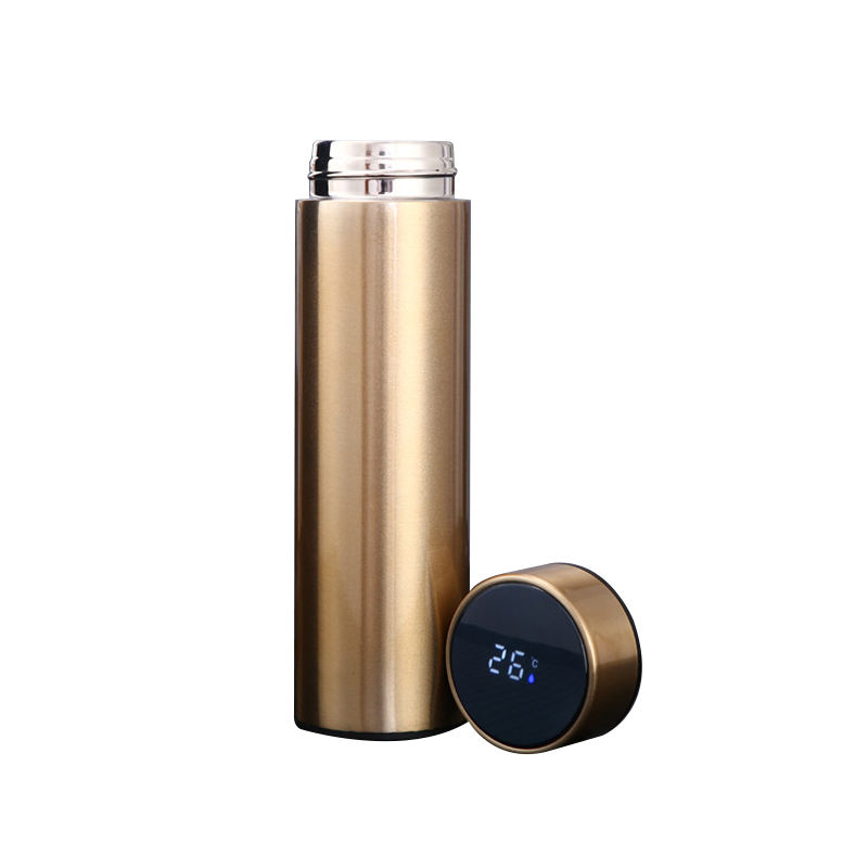 The new smart temperature water cup 304 stainless steel vacuum flask with temperature display