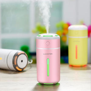 Hot Jual Lampu LED Mini Joy USB Mobil Humidifier Baru Smart Piala Tujuh Warna Lampu Mute Air Pengisian Air Semprot nebulixer