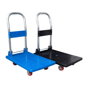 150kgs 300kgs Cheap Price Foldable Hand Plastic Platform Cart Truck