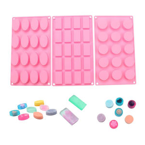 SHQN Round Rectangle Oval Shape Silicone Mold For Handmade Soap Tool Pudding Chocolate Candy