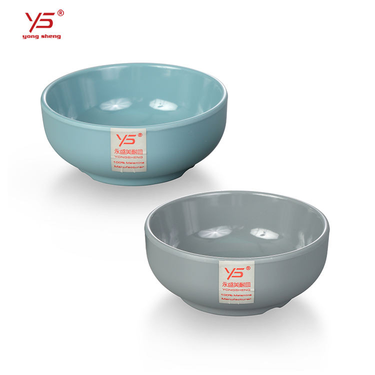 Korean Restaurant Stackable Custom Logo Melamine Round Shallow Rice Bowl
