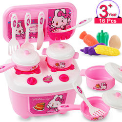 Kitchen Set for Kids Play Set Pretend Role Play Toys Cookware Miniature Food Kitchen Set for Kids Educational Toy