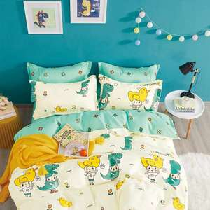 Kids Bedding Boys Printed 100% Cotton Bed Covers Quilt Warm Print Cartoon Comforter Set