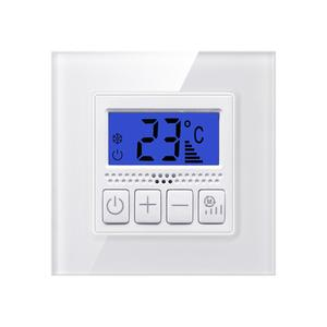 Kaiji Kaca Tempered Panel Temperature Controller Pusat Air Conditioner Fan Dinding Control Knob Switch