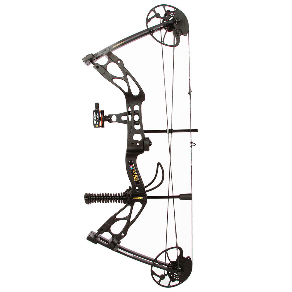 "Sanlida Archery Dragon X8 Hunting Compound Bow Pack Black 0-60lbs ATA 30"" Draw Length 18-31"" Outdoor Sport Shooting"