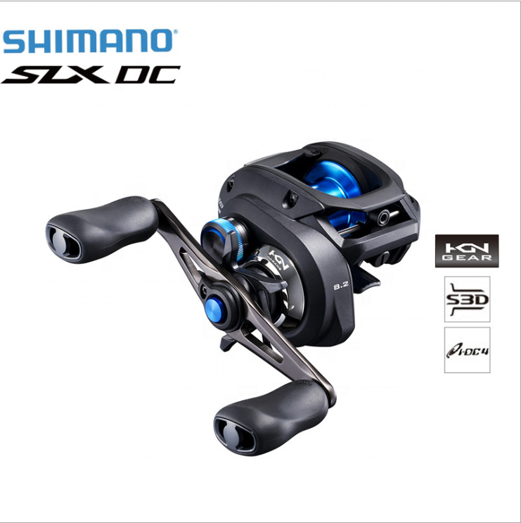 2019 Shimano Slx DC 150 150HG 151 151HG 151XG 151XG Low Profile Reel Gear Ratio DC Brake 4+1BB saltwater Baitcasting reel