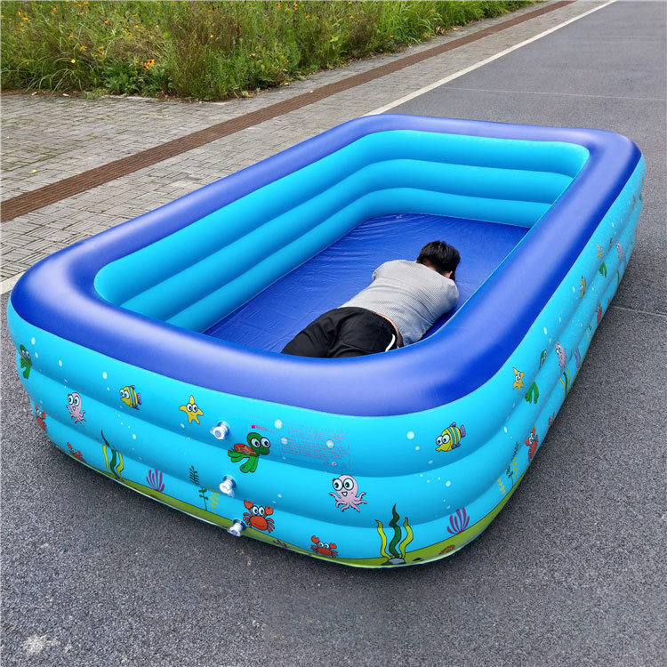 Y New design FoldingSoft Plastic Baby Children Swimming Pools Rectangular Inflatable Pool for kid and adult
