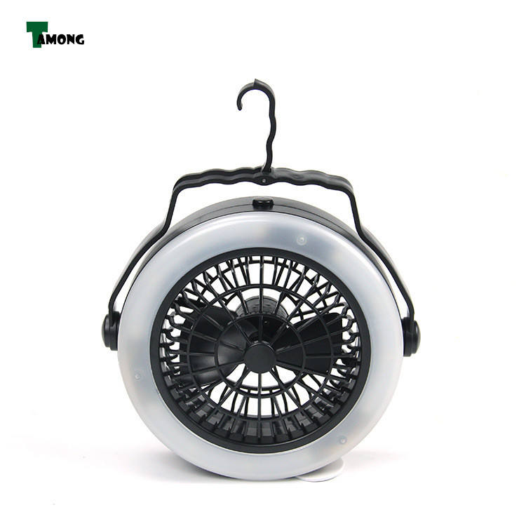 USB PoweredまたはBattery Operated2 In 1 Portable LED Camping Lantern With 12 LED Flashlight Ceiling Fan