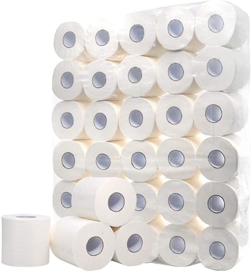 Soft White Toilet Paper 4 Ply Comfort Care Bath Tissue, Paper Towels Rolls 12 Pack Highly Absorbent Kitchen Paper