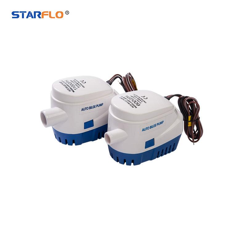 STARFLO 600GPH automatic electric bilge pump / 12v boat submersible electric submersible pump price marine bilge pump
