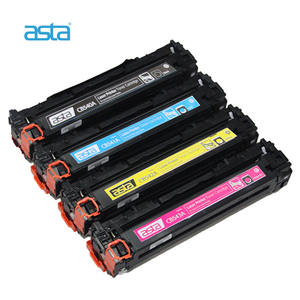 ASTA Factory Wholesale Compatible Color Toner For HP Laser Printer CB540A CB541A CB542A CB543A 125A Toner Cartridge