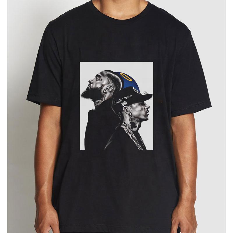 Wholesale Nipsey Hussle T Shirt Summer 2021 Streetwear Nipsey Xxxtentacion Lil Peep Men Hip Hop T Shirts