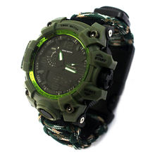 Factory Sale Cheap Paracord Tactical Army Watch, New Climbing Equipment Dongguan Plastic Bangle Watches
